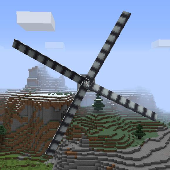 ветрогенераторы в майнкрафте и роторы #2