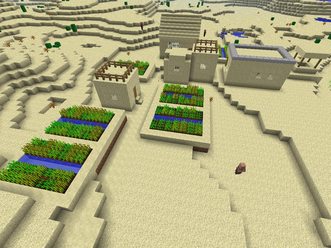 как построить деревню в пустыне в майнкрафте #4