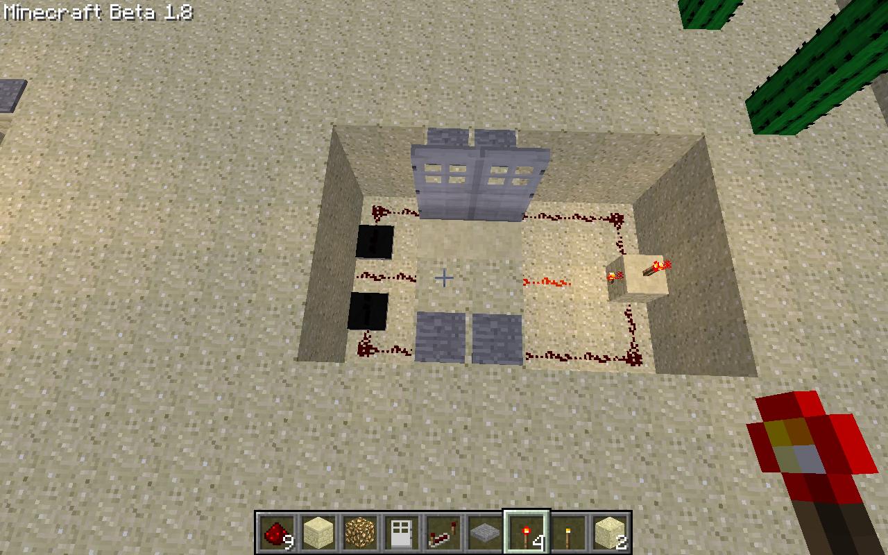 Как сделать в minecraft нажимную плиту