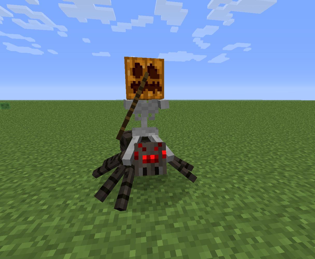 Как сделать в майнкрафте лошадь-скелет