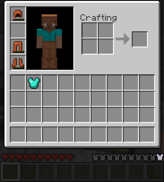 Файл:Without diamond chestplate.png - Playzone: Minecraft